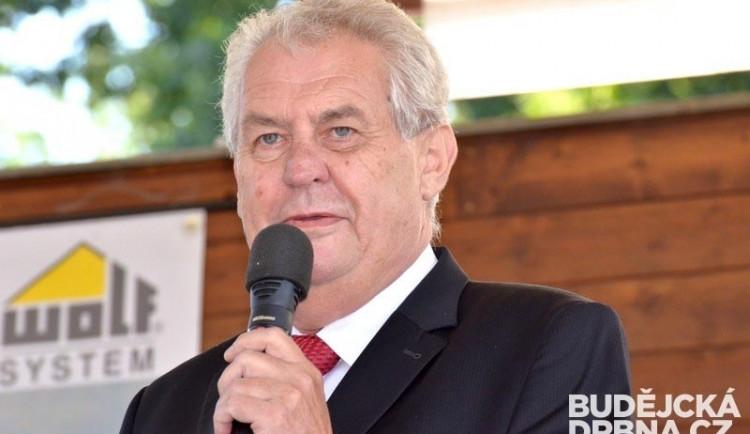 Prezident Zeman do Olomouckého kraje přijede na začátku března