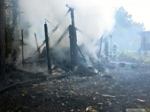 VIDEO: Na Prostějovsku hořely dvě chaty, není vyloučeno cizí zavinění