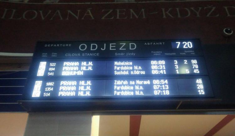 AKTUÁLNĚ: Mezi Grygovem a Olomoucí srazil rychlík člověka, vlaky nabírají zpoždění
