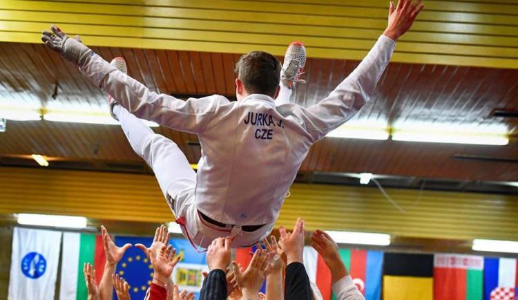 Olomoucký šermíř Jakub Jurka se stal juniorským mistrem Evropy