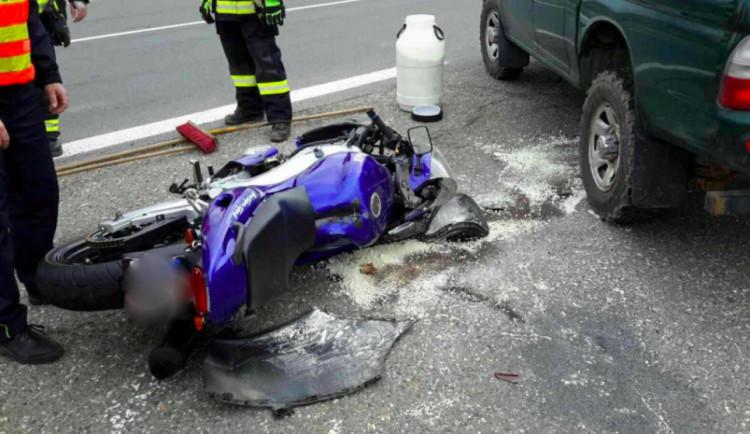 Jen v sobotu hasiči zasahovali na Olomoucku u dvou těžkých nehod motorkářů
