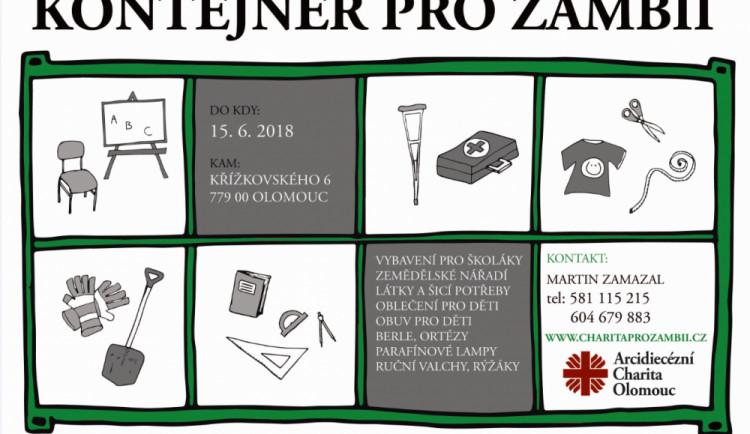 Olomoucká charita vyhlásila materiální sbírku Kontejner pro Zambii. Lidé můžou pomoci tamním dětem