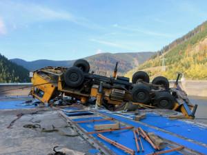 Policie odložila případ havárie autojeřábu na Dlouhých stráních, při které zemřel dělník