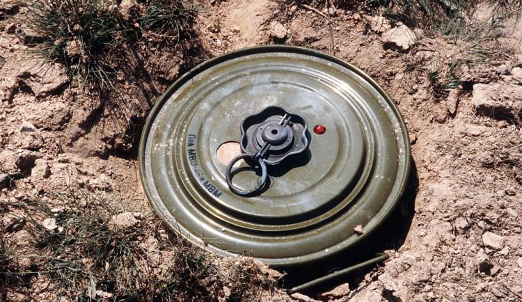 Muž našel při sečení trávy na zahradě protitankovou minu
