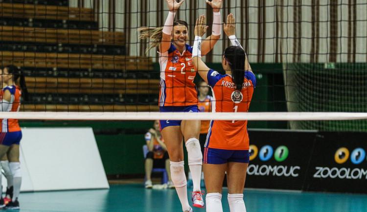 Olomoucké volejbalistky si poradily s hráčkami Prostějova. Porazily je 3:2