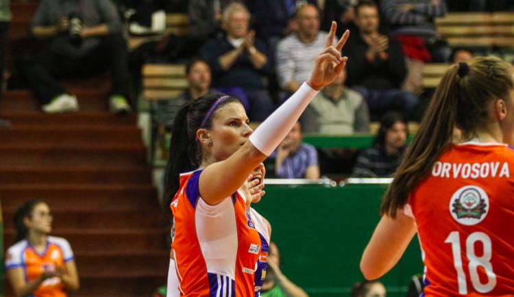 Volejbalistky si ve Středoevropské lize poradily s chorvatským Záhřebem 3:1