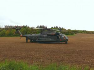 Na Prostějovsku musel kvůli bezpečnosti přistát vrtulník německé armády