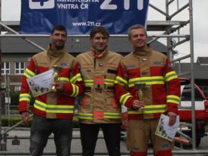 V Olomouci se soutěžilo o nejtvrdšího hasiče. Domácí Michal Přecechtěl ovládl svou kategorii