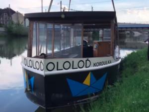 Loď Kordulka už je na Bečvě, její kapitán chystá pro tuto sezónu novinky