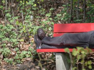 Mladíkovi, který spal na lavičce v parku, sebral zloděj z očí brýle, z hlavy kšiltovku a z kapsy mobily