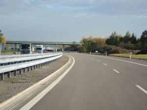 Dálniční křižovatka u Olšan je po modernizaci bezpečnější
