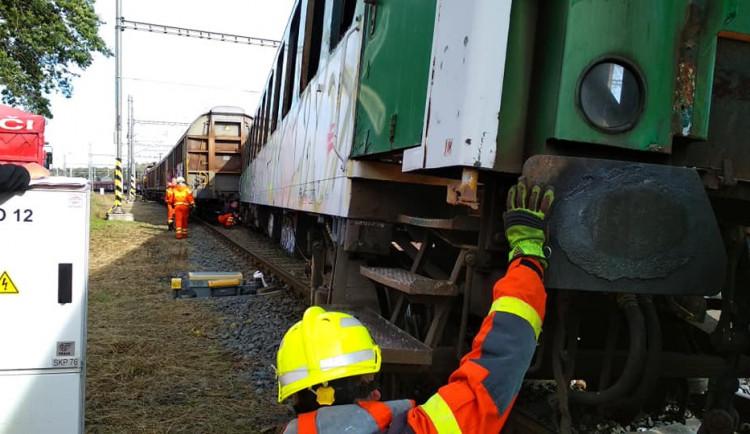 AKTUÁLNĚ: Na vlakovém seřadišti v Olomouci vykolejila souprava