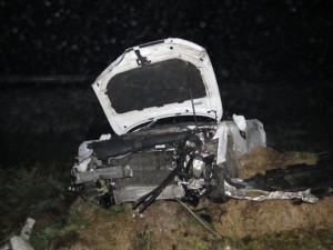 Řidič havaroval v mlze pod Bludovským kopcem
