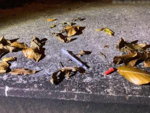 Olomoučtí strážníci nalezli dvě injekční stříkačky, od letošního roku jich už odebrali přes tři stovky