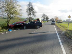 Mladá řidička jela příliš rychle a narazila do auta před sebou
