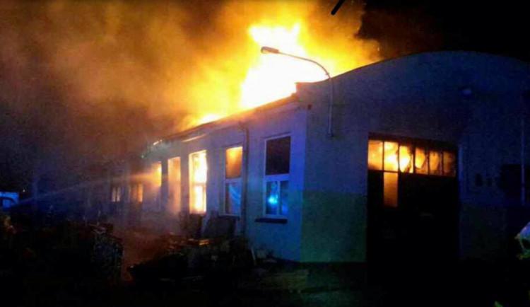 Vyšetřování požáru haly v Přerově je odloženo, nešlo o trestný čin