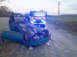 FOTO: Silvestr v Olomouckém kraji byl z pohledu záchranářů klidný, hasiči se ale zapotili