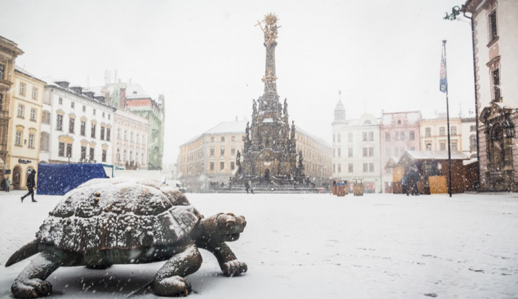 FOTO: Takhle to vypadalo loňský leden v centru. Dočkáme se ještě do konce tohoto ledna podobné nadílky?