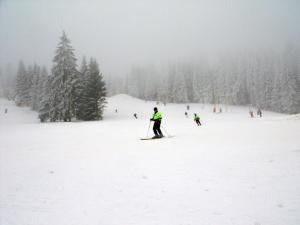 Na Ovčárně a v Karlově kontrolují bezpečnost na sjezdovkách policisté na lyžích
