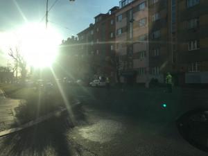 Na Masaryčce dnes ráno došlo ke střetu auta s cyklistou. Ten byl se zraněním převezen do nemocnice
