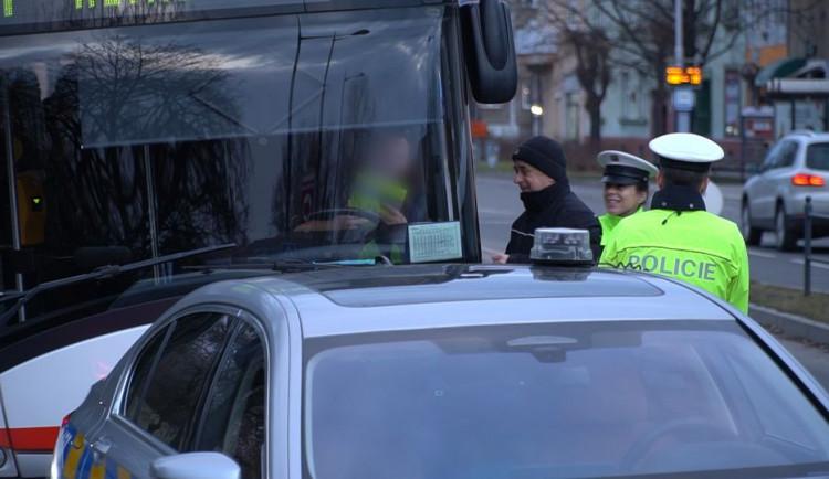 V Olomouci probíhala kontrola řidičů autobusů