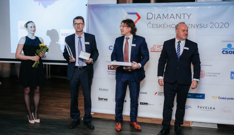 FOTO: V Olomouci byly uděleny Diamanty českého byznysu pro Olomoucký a Moravskoslezský kraj