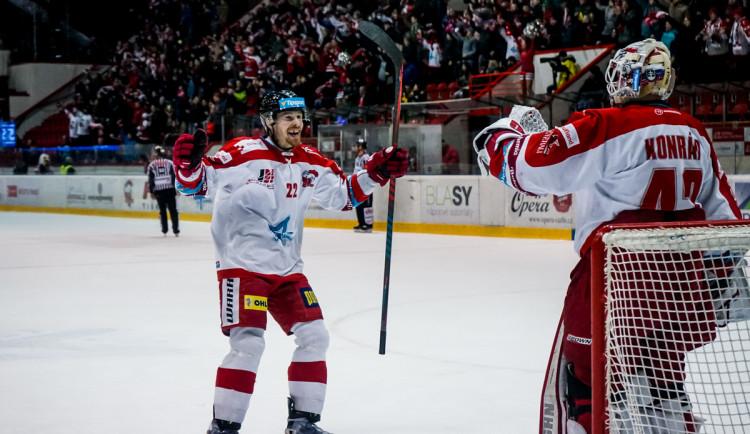 FOTOGALERIE: Hokejisté Olomouce si zajistili konečné sedmé místo v tabulce