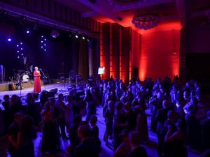 Na Prostějovském plese zahráli O5 a Radeček i Monika Absolonová. Tématem byla láska a vášeň