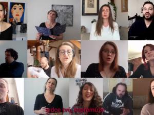 VIDEO: Členové opery a operety Moravského divadla nezoufají. Každý sám, ale společně nazpívali píseň