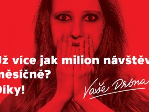 Olomoucká Drbna se v březnu přehoupla přes milion návštěv, její čtenáři by šedesátkrát naplnili plecharénu