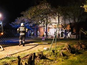 V Klokočí hořelo v noci hospodářské stavení