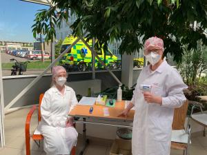Medička pomáhala vprostějovské nemocnici vprvní linii. Obrovská zkušenost, říká dobrovolnice