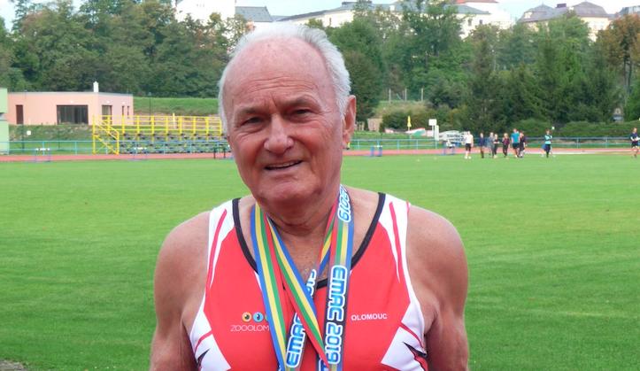 Václav Dostalík, známý olomoucký atlet, oslavil životní jubileum