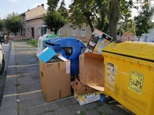 Kontejnerů na odpad je ve městě dostatek, přesto stále vznikají nelegální černé skládky