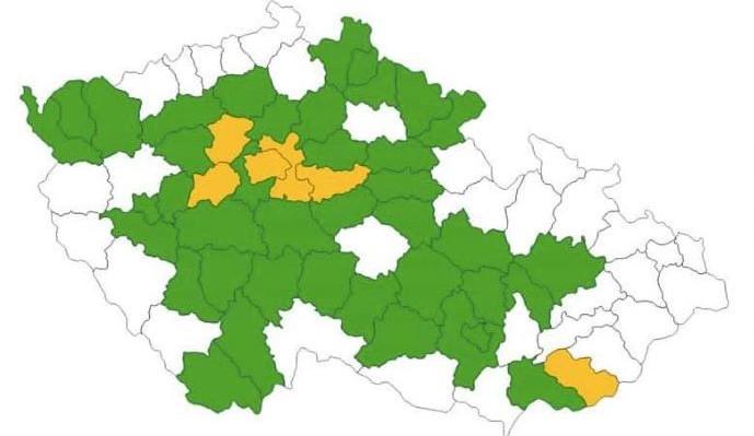 Aktualizace semaforu: Olomouc a Prostějov v prvním stupni pohotovosti