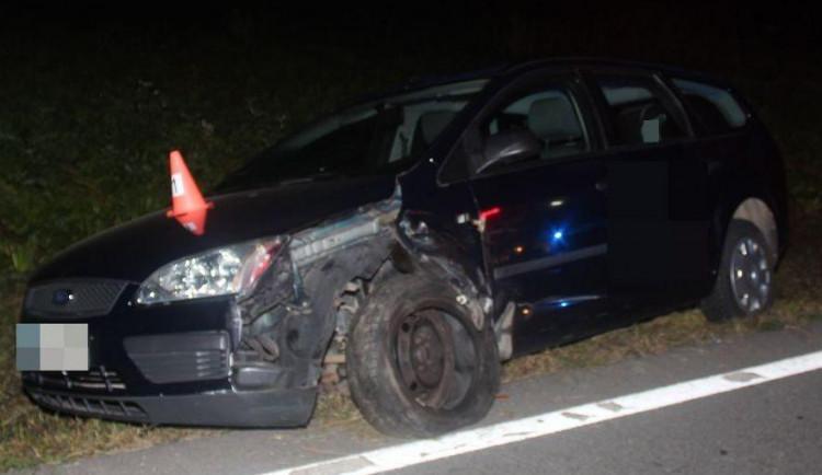 Střet osobního auta s nákladním. Řidička nadýchala přes dvě promile
