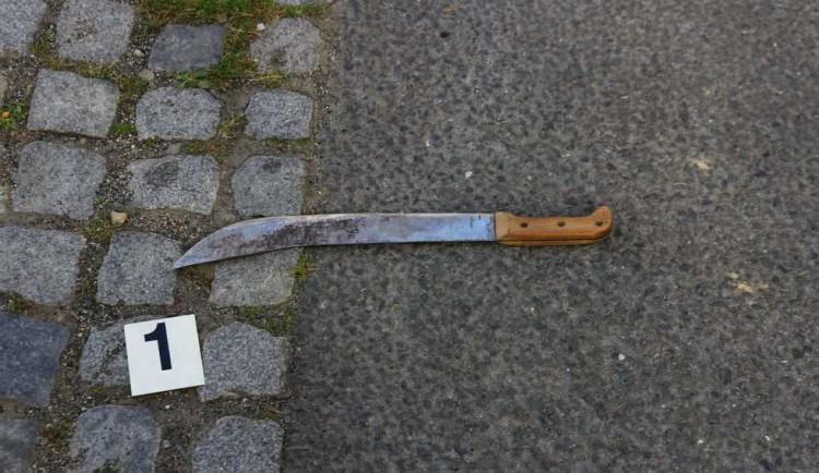 Muž vytáhl na policistu mačetu a vyhrožoval zabitím. Zastavila ho až namířená zbraň