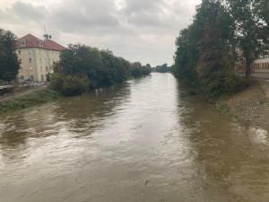V Olomouckém kraji platí stále dva druhé povodňové stupně