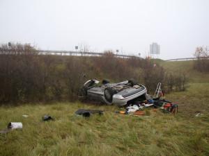 FOTO: Při tragické dopravní nehodě na dálnici D1 zemřeli dva lidé