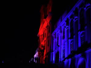 VIDEO: Bazilika na Svatém Kopečku se rozzářila v barvách trikolory