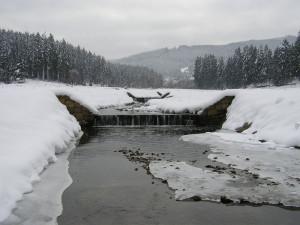 Pohyb na tenkém ledě je velmi nebezpečný, Povodí Moravy radí na zamrzlou vodu zatím nevstupovat