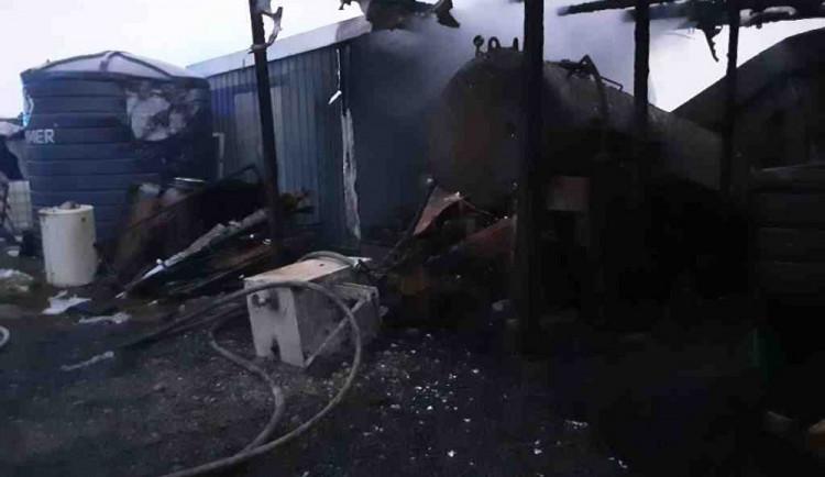 V olomoucké části Týneček vyjížděli hasiči k požáru v zemědělském areálu