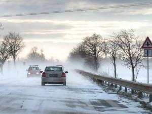 V Olomouckém kraji opět sněžilo, na cestách je rozbředlý sníh