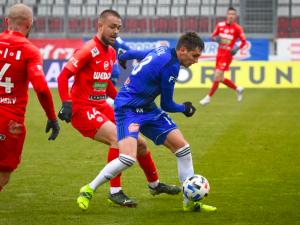 Chytil v nastavení vystřelil fotbalistům Olomouce výhru nad Brnem