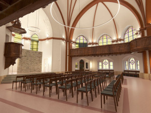 Kraj chce probudit k životu boční ochozy Červeného kostela v Olomouci