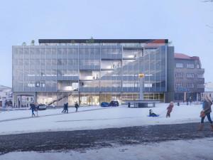 Pětipodlažní přerovská budova Emos získá po přestavbě moderní vzhled