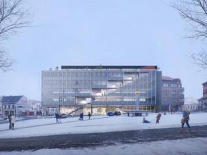 Výstava představuje návrhy na rekonstrukci administrativní budovy Emos