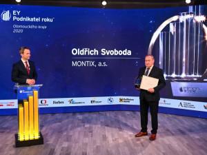 Podnikatelem Olomouckého kraje je Oldřich Svoboda z firmy Montix