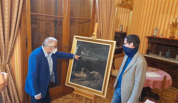 Zámek v Čechách pod Kosířem získal nový obraz Mánesa a hraběte Tarouca