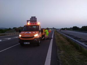Silničáři v obou směrech obnovili provoz na opravené dálnici D35